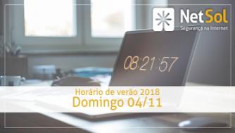 Horário de Verão 2018