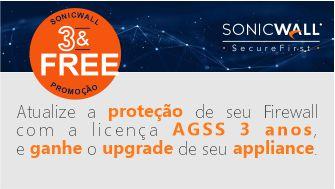 Promoção – SonicWall 3 & Free